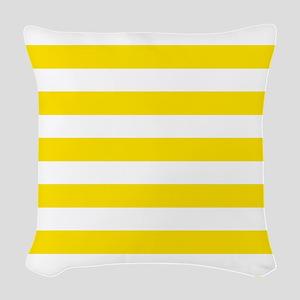 Yellow and white horizontal stripes Woven Throw Pi