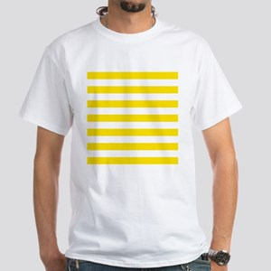 Yellow and white horizontal stripes T-Shirt
