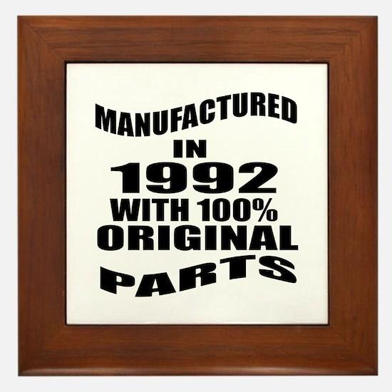 Manufactured In 1992 Framed Tile