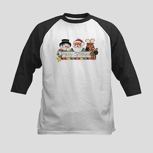 Merry Christmas Trio Kids Baseball Jersey