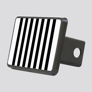 Black and white vertical stripes Rectangular Hitch