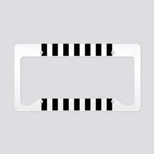 Black and white vertical stripes License Plate Hol