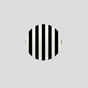 Black and white vertical stripes Mini Button