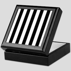 Black and white vertical stripes Keepsake Box
