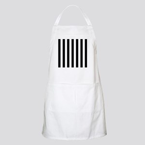 Black and white vertical stripes Apron