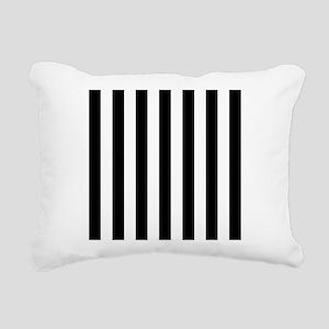 Black and white vertical stripes Rectangular Canva