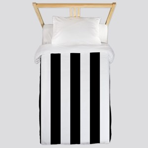 Black and white vertical stripes Twin Duvet