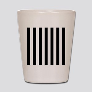 Black and white vertical stripes Shot Glass