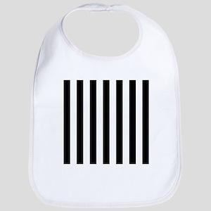 Black and white vertical stripes Bib