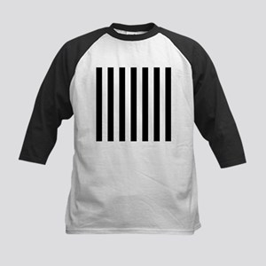 Black and white vertical stripes Baseball Jersey