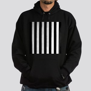 Black and white vertical stripes Hoody