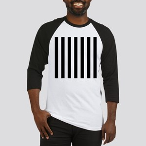 Black and white vertical stripes Baseball Jersey