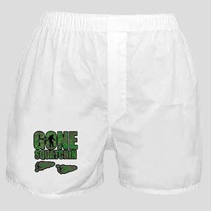 Gone Squatchin woodlands Boxer Shorts
