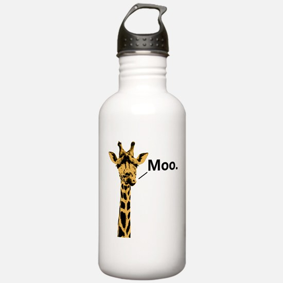 Giraffe Moo Funny Water Bottle