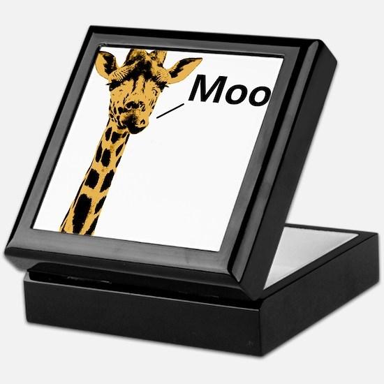 Giraffe Moo Funny Keepsake Box