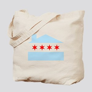 Chicago House Flag Tote Bag