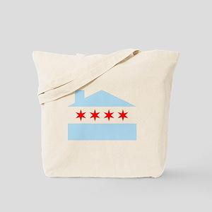 Chicago House Flag Tote Bag