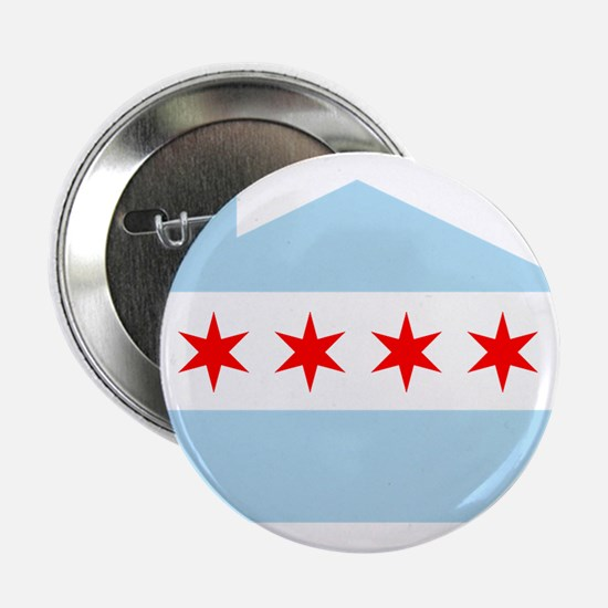"Chicago House Flag 2.25"" Button"