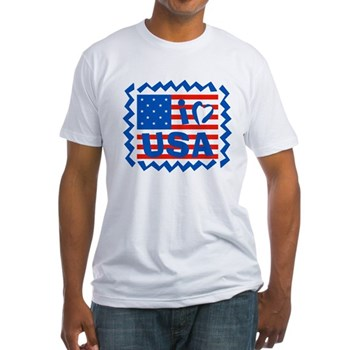 I Heart USA Fitted T-Shirt