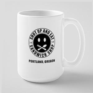 SHUT UP AND EAT LOGO Mug