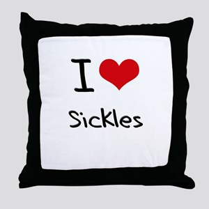 I Love Sickles Throw Pillow