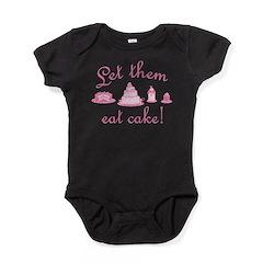 Sweet Pink Let Them Eat Cake Baby Bodysuit