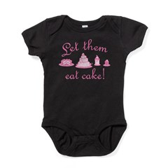 Sweet Pink Let Them Eat Cake Baby Bodysuit