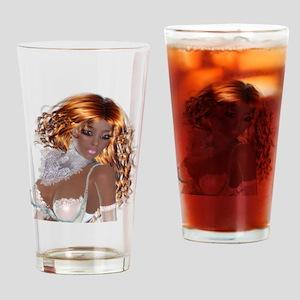 Pretty Black Girl Drinking Glass