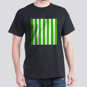Green and white vertical stripes T-Shirt