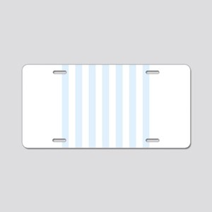 Light Blue and white vertical stripes Aluminum Lic
