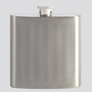Light Blue and white vertical stripes Flask