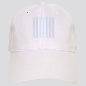 Light Blue and white vertical stripes Cap