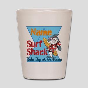 Custom surf shack Shot Glass