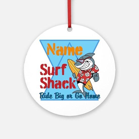 Custom surf shack Ornament (Round)
