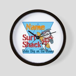 Custom surf shack Wall Clock