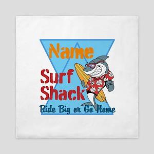 Custom surf shack Queen Duvet