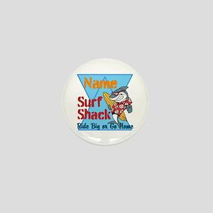 Custom surf shack Mini Button