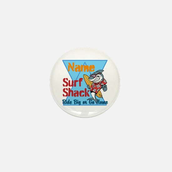 Custom surf shack Mini Button
