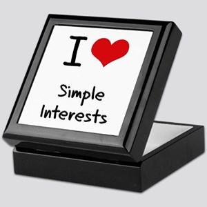 I Love Simple Interests Keepsake Box