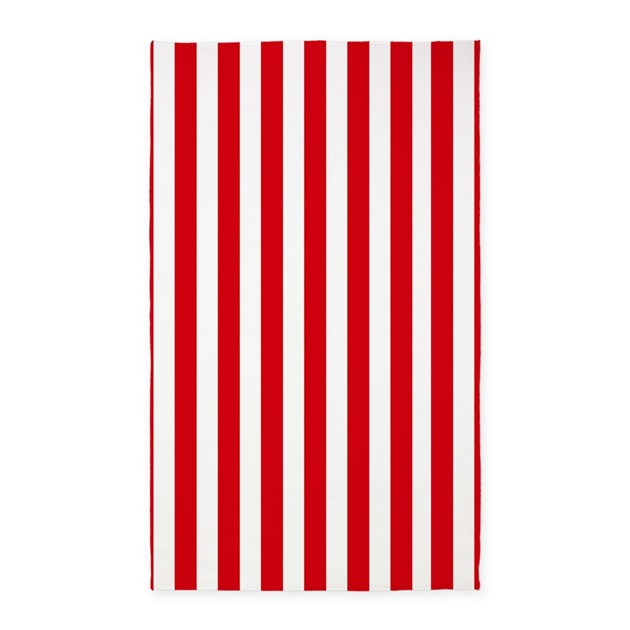 Red and white vertical stripes 3 39 x5 39 area rug by for Red and white striped area rug