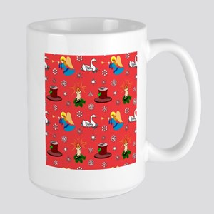 Christmas, Swans, Angels Large Mug