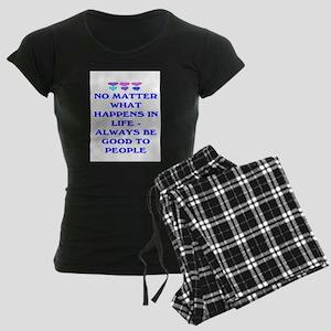 ALWAYS BE GOOD TO PEOPLE Women's Dark Pajamas