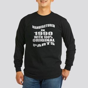 Manufactured In 1990 Long Sleeve Dark T-Shirt