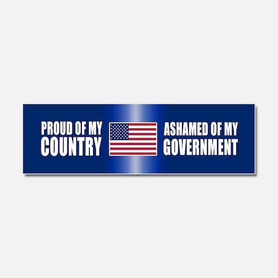 Cute Politics flag Car Magnet 10 x 3