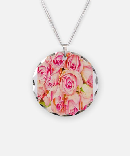 Vintage Hybrid Tea Roses Necklace