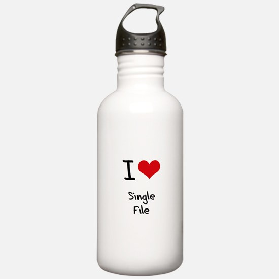 I Love Single File Water Bottle