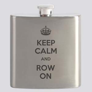 Keep Calm and Row On Flask