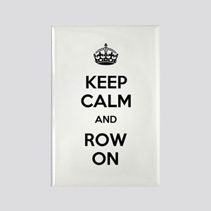 Keep Calm and Row On Rectangle Magnet