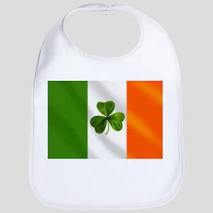 Irish Shamrock Flag Bib