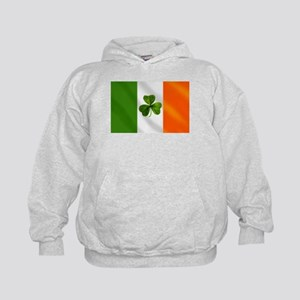 Irish Shamrock Flag Kids Hoodie